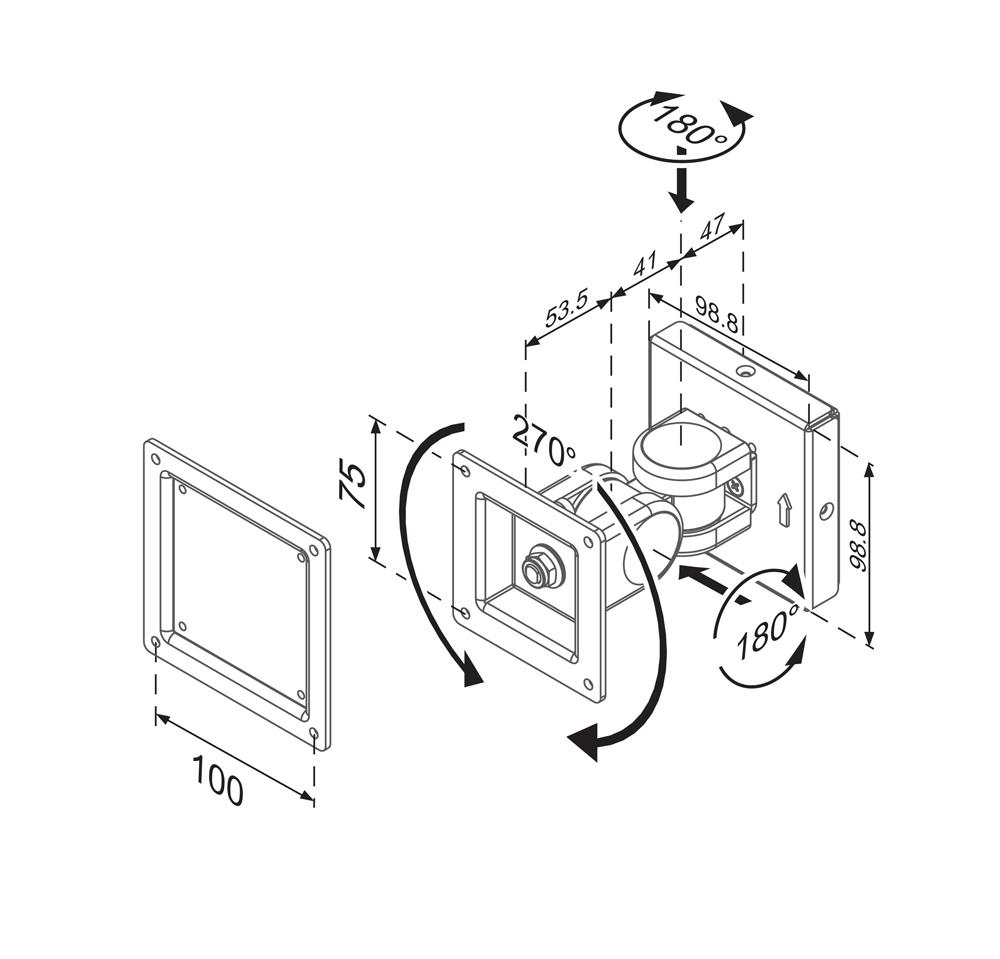 newstar fpma  monitor    tablet enclosure wall mount